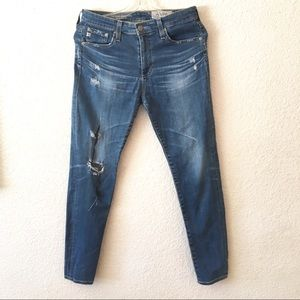 Ag-Ed Farrah Skinny Ankle Distressed Denim Jeans